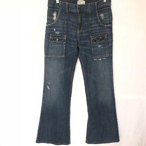 Current Elliott The Bush Pants Distressed Jeans 29